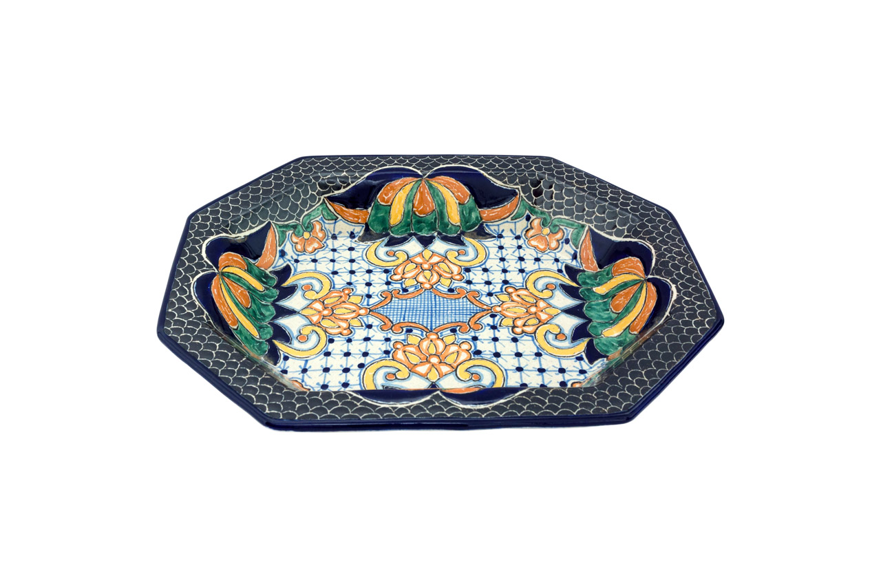 Uriarte Talavera Ceramic Serving Dish