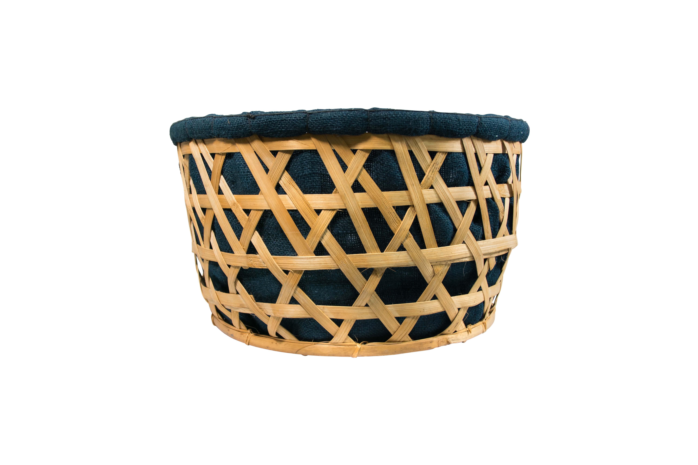 Canasto redondo de  bambú