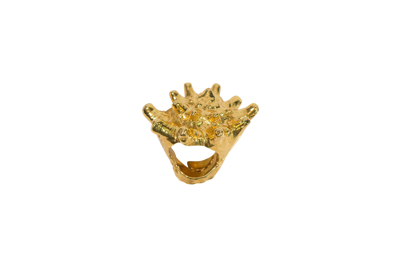 Golden Seashell Ring