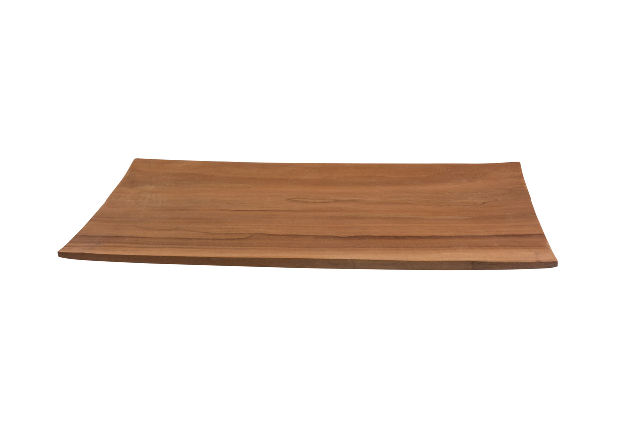 Honey-coloured wooden tray