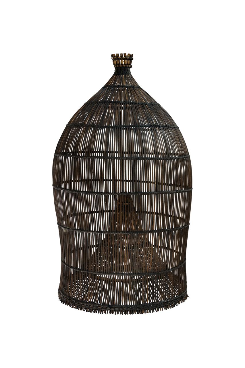 Lámpara estilo camaronera pequeña en bamboo