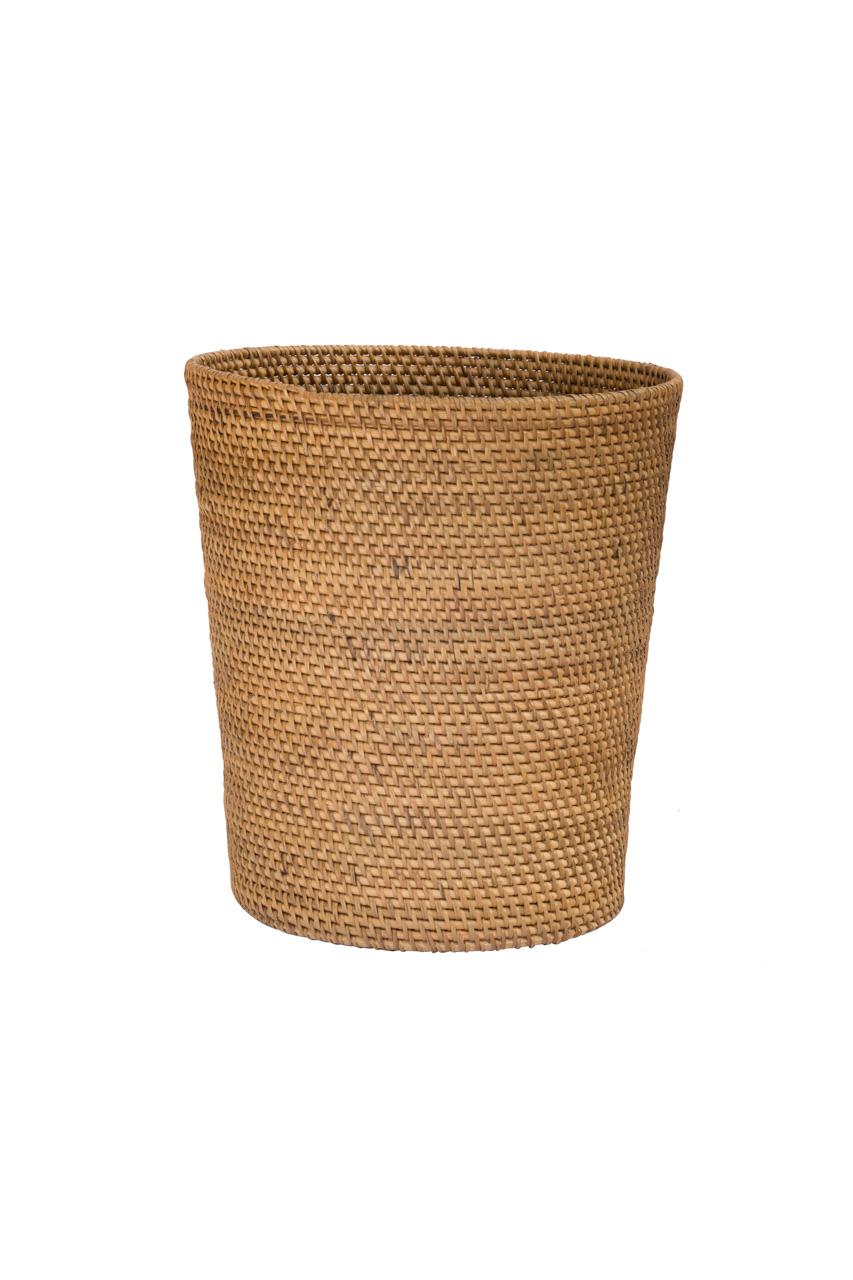 Rattan wastepaper basket