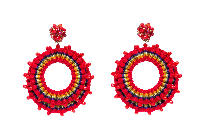 Arete San Jacinto Rojo
