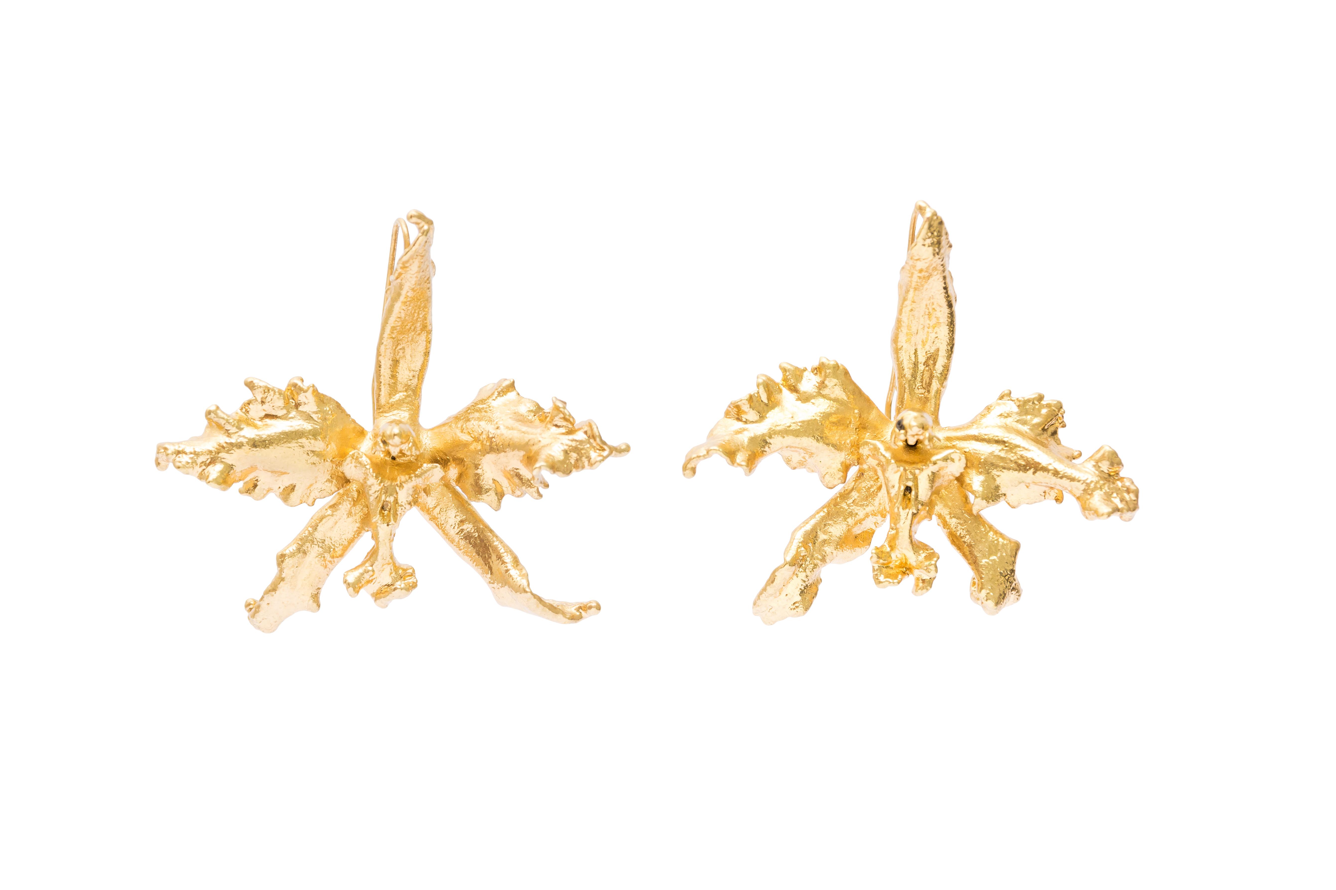Aretes Orquídea