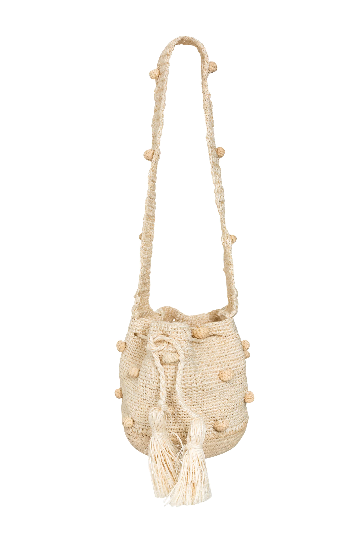 Fique Mochila Handbag with Iraca base, Natural