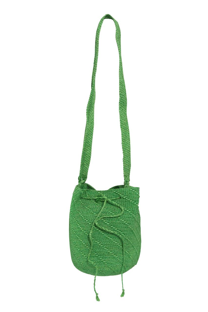Banana Fiber Mochila Handbag, Green