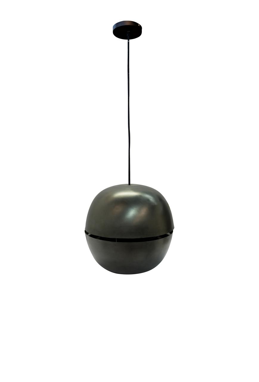 Lámpara de colgar Nussen negra en cobre