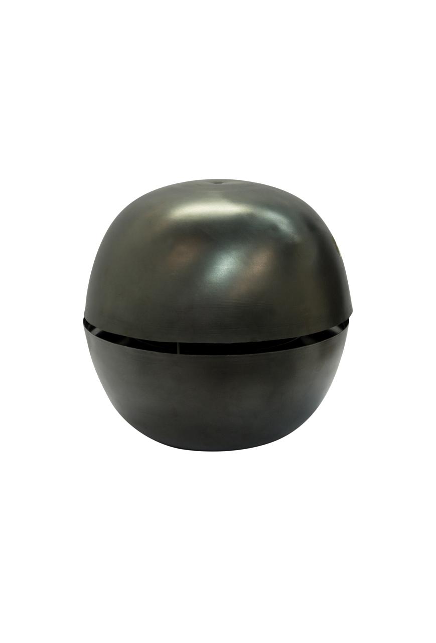 Lámpara colgante Nussen en cobre-negro