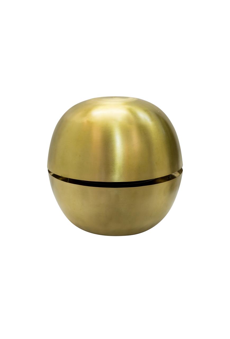 Lámpara colgante Nussen en cobre-dorada