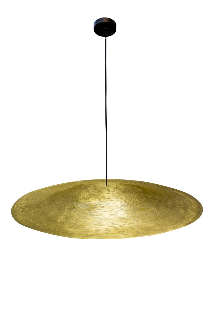 Lámpara de colgar flotante en cobre