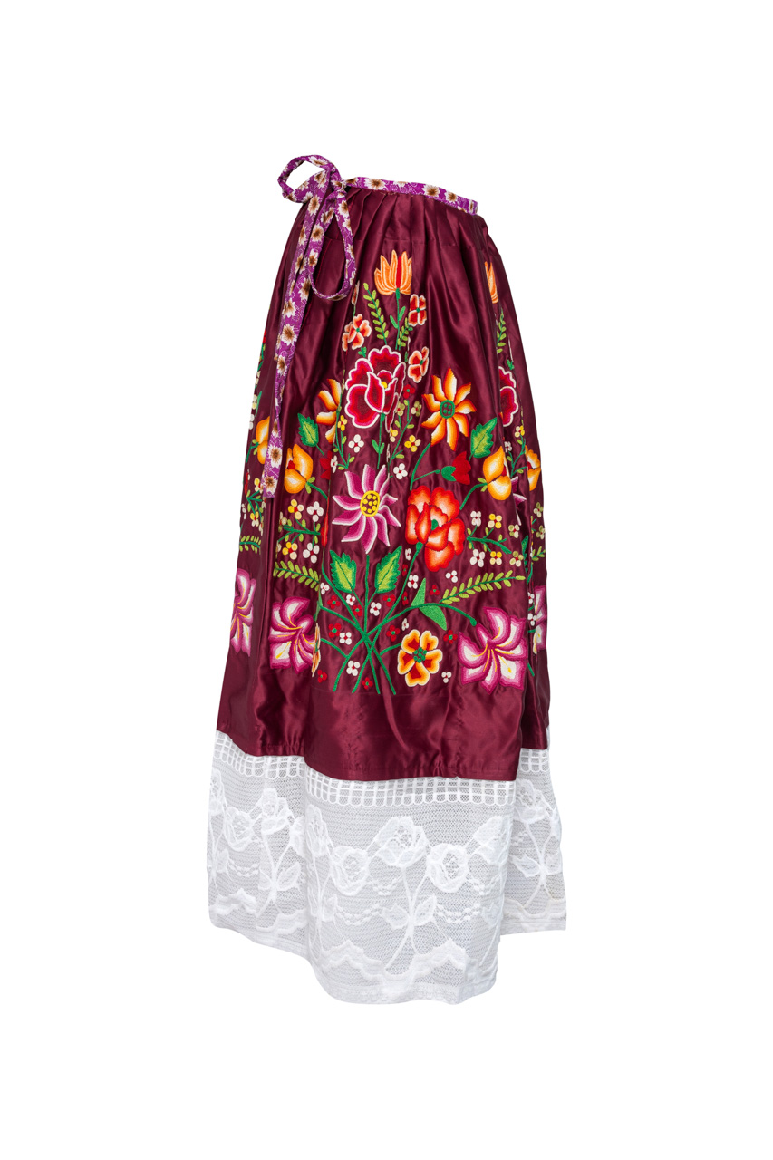 Oaxaca skirt Dark Red