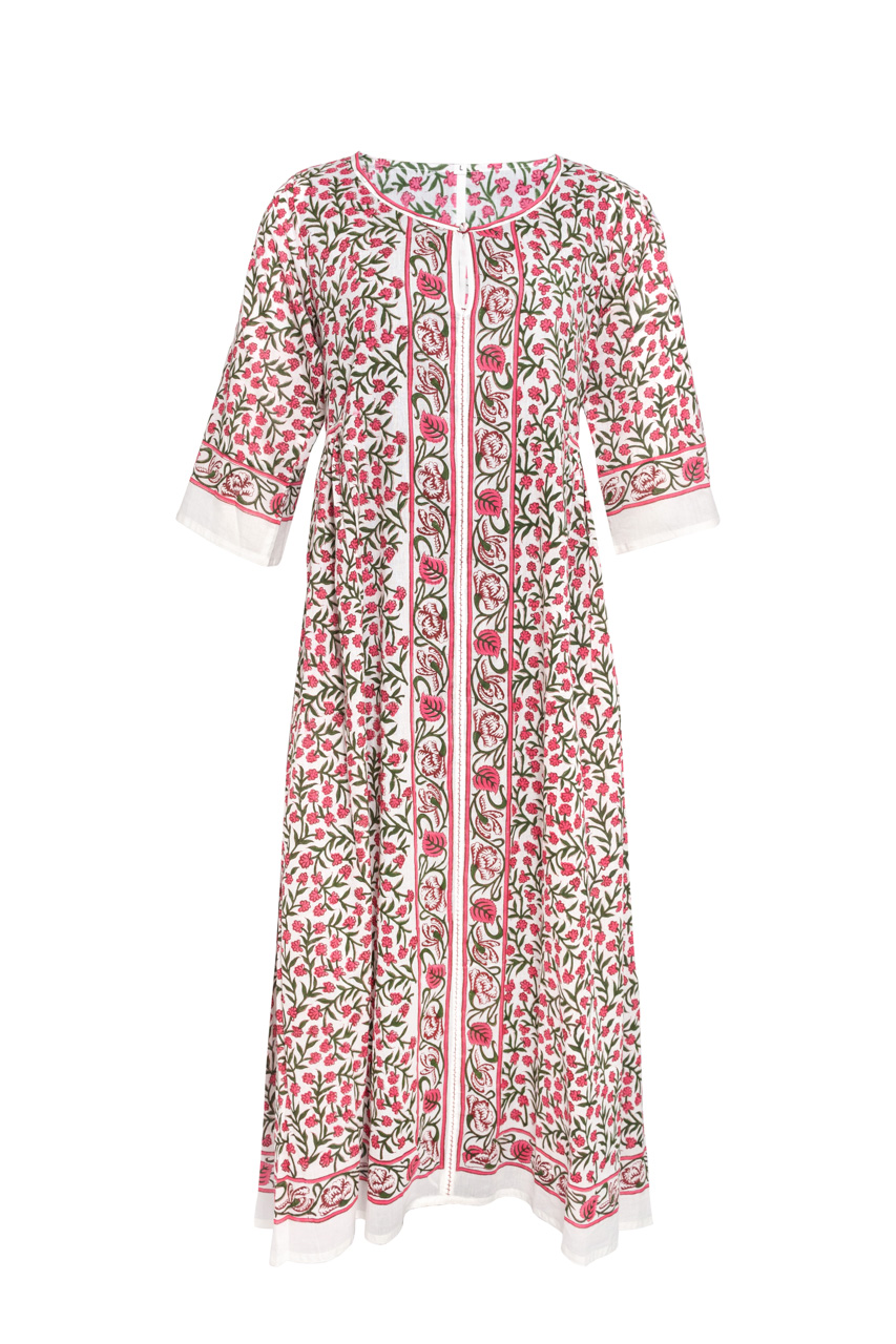 Floral Indian Block Dress