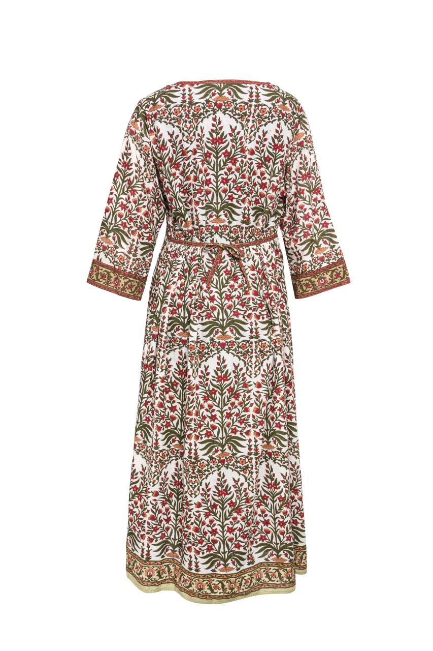 Multicolored Indian Block Dress