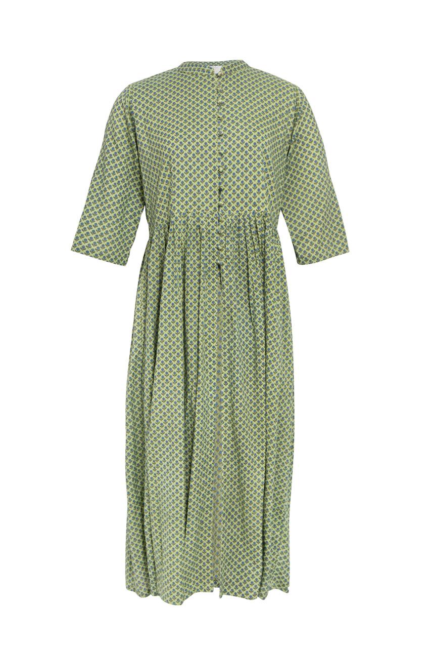 Green Block India Dress