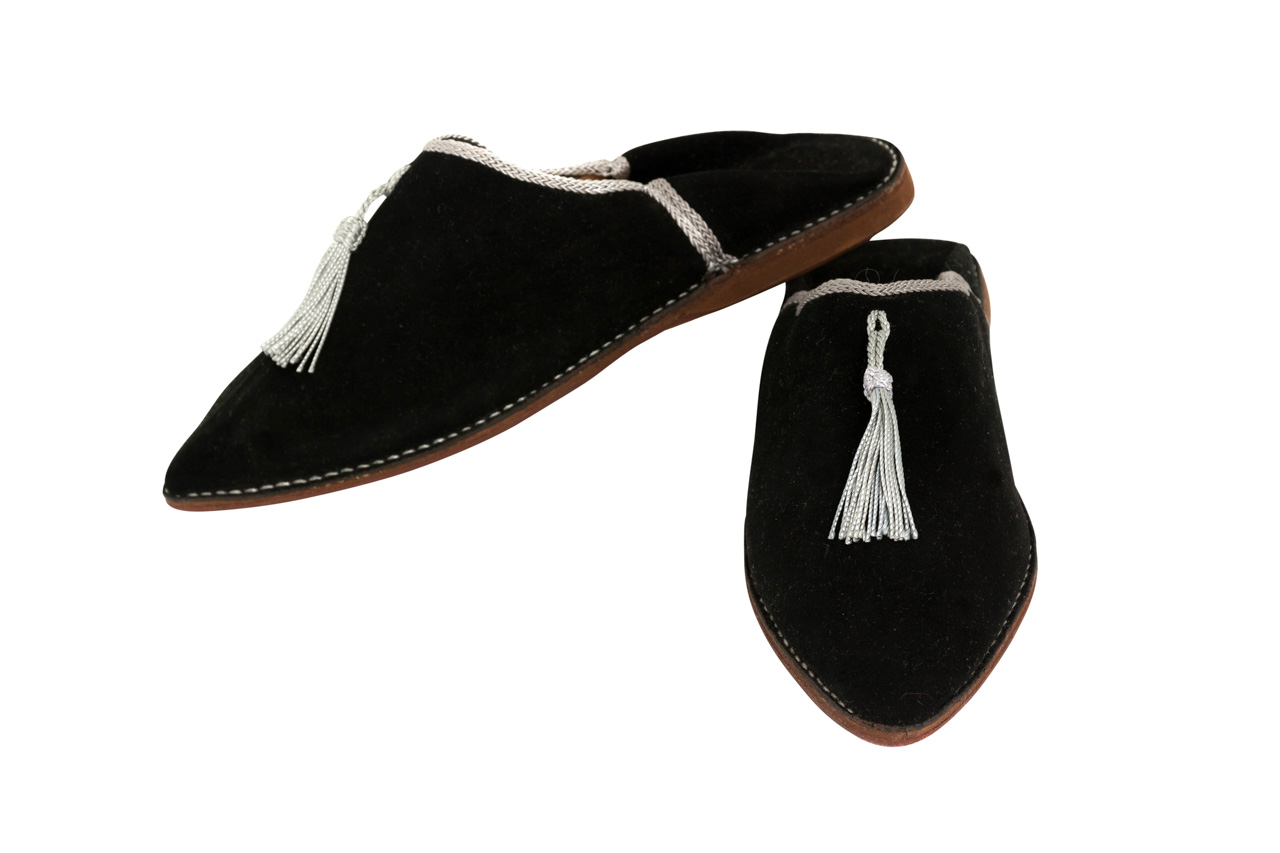 Moroccan Babouches Black