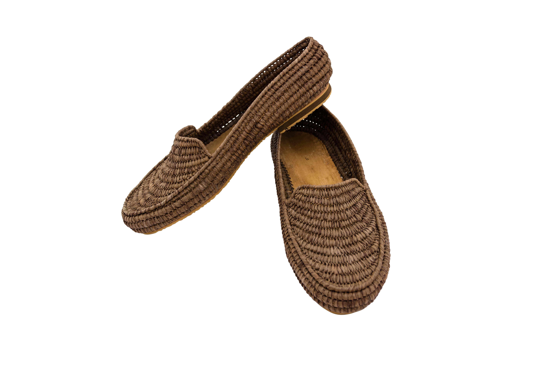 Zapatos Marroquí Raffia Marrón