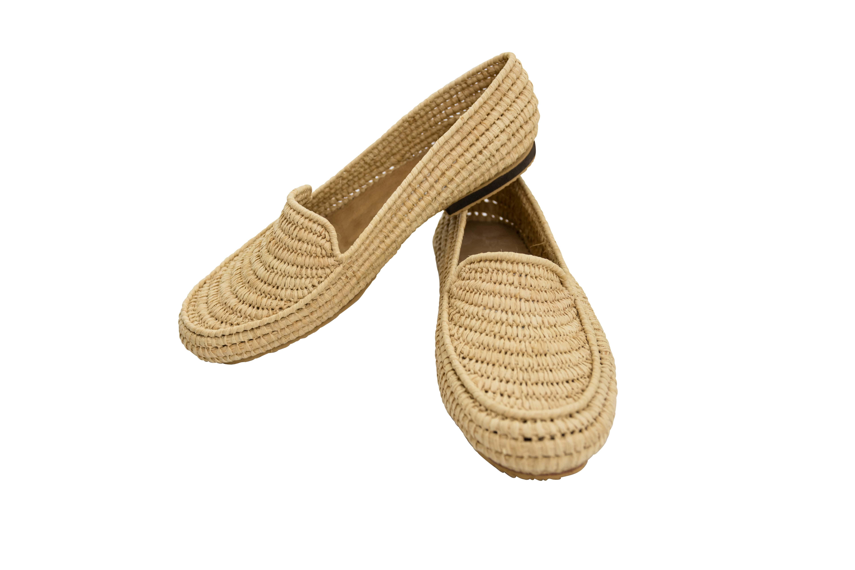 Zapatos Marroquí Raffia Natural