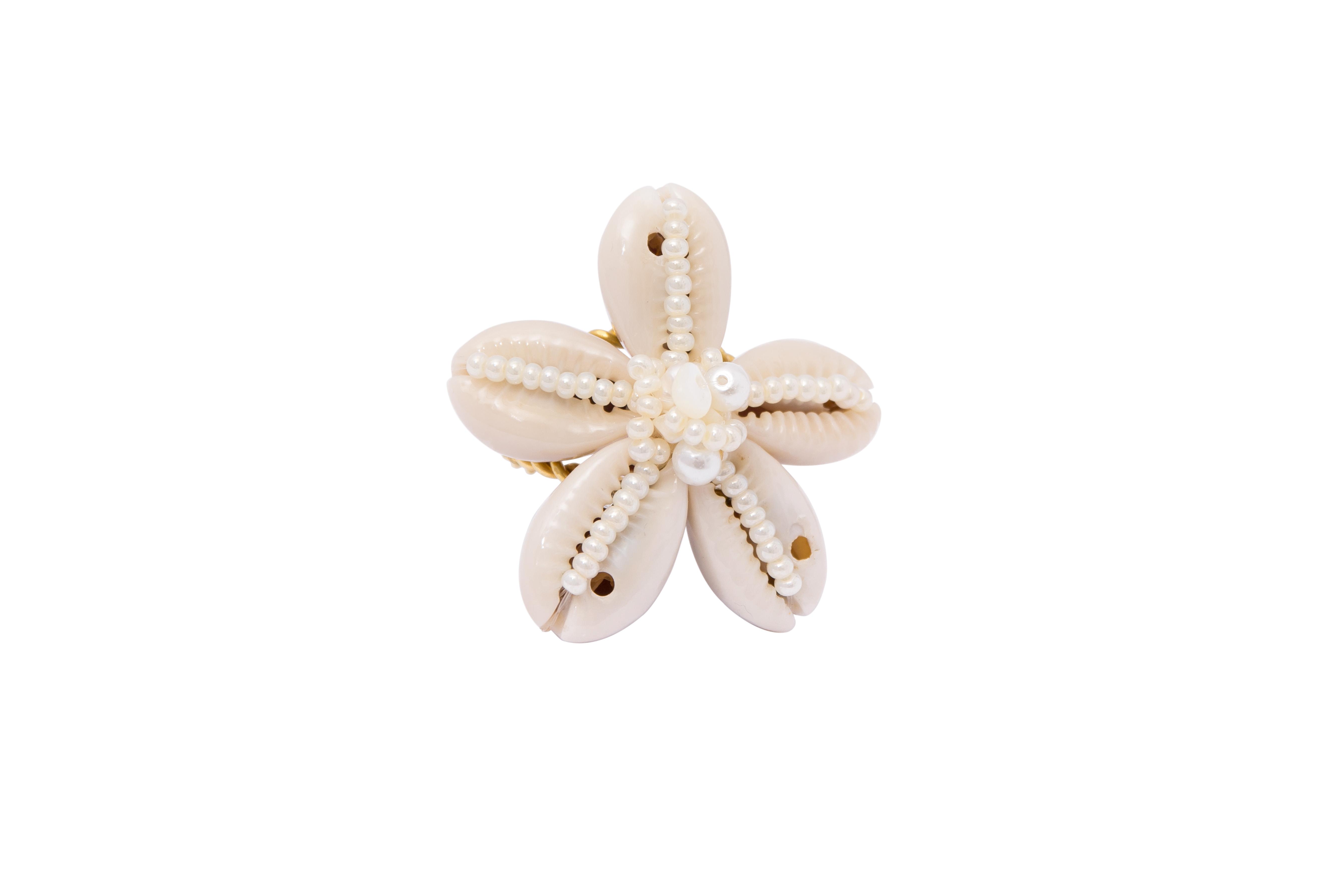 Natural Snail Flower Ring