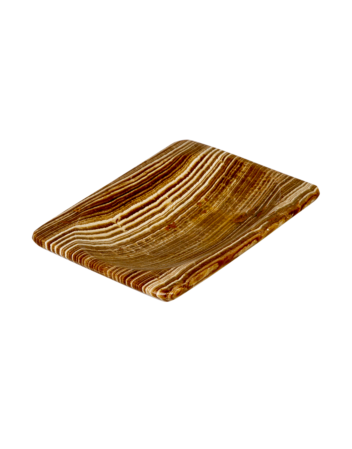 Brown fossil ashtray