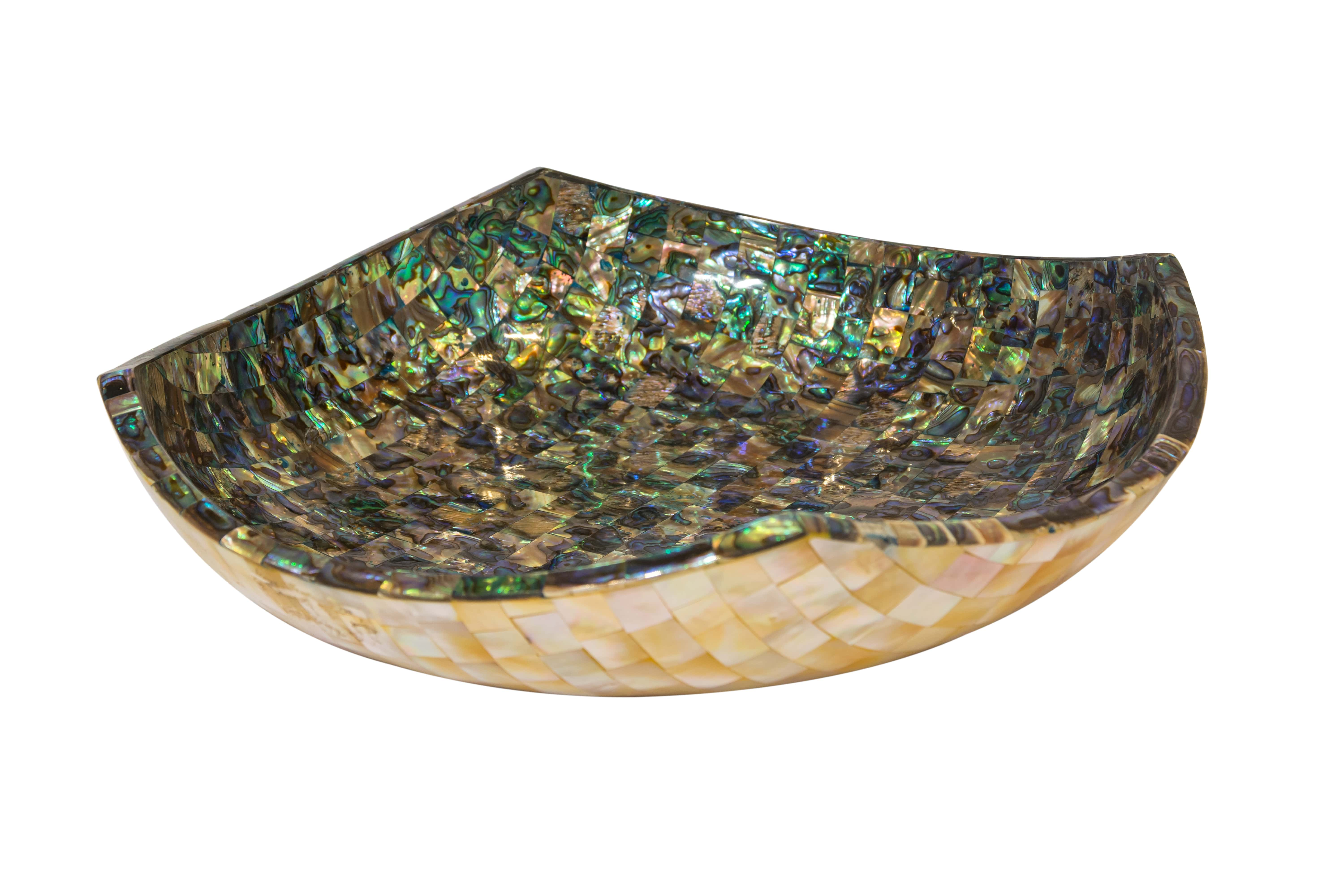 Abalone square bowl