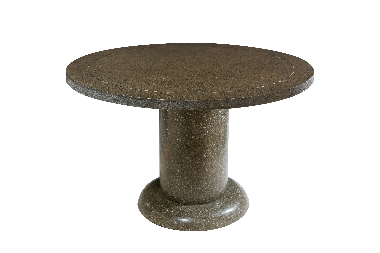 Dining table in terrazzo stone