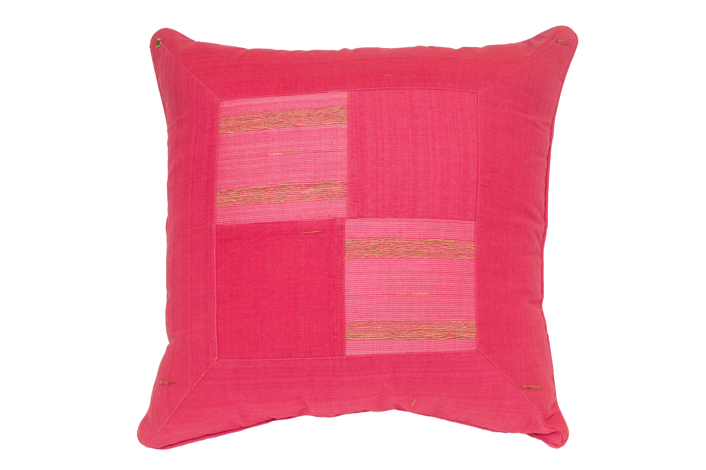 Indonesia fuchsia cushion