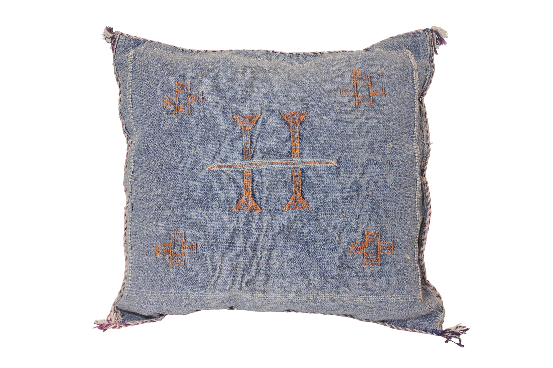 Cojín Sabra Marroquí azul jean