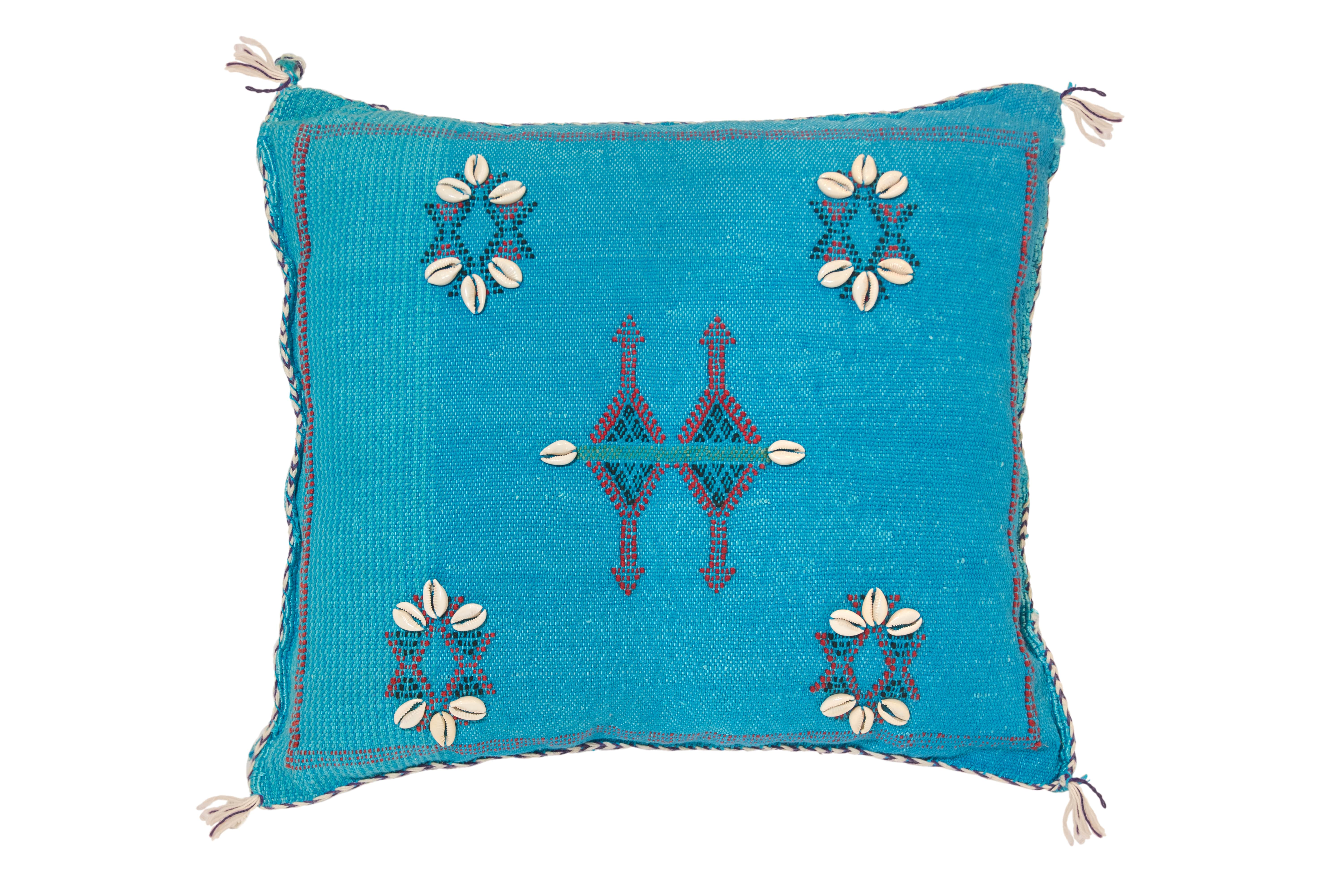 Sabra Moroccan turquoise cushion turquoise