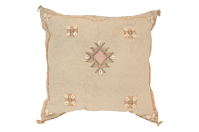 Sabra Moroccan cushion natural