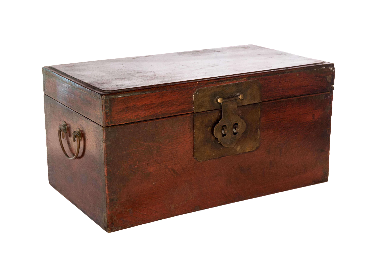Baúl vintage en madera teka