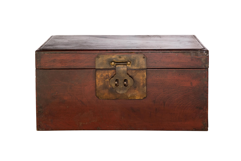 Baúl vintage en madera teka de Birmania