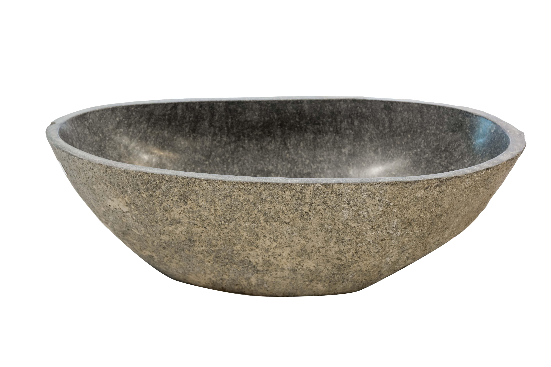 Oval natural stone washbasin