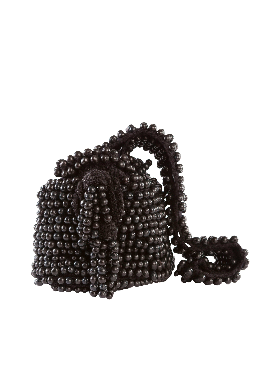 Mochila crochet tagua negra