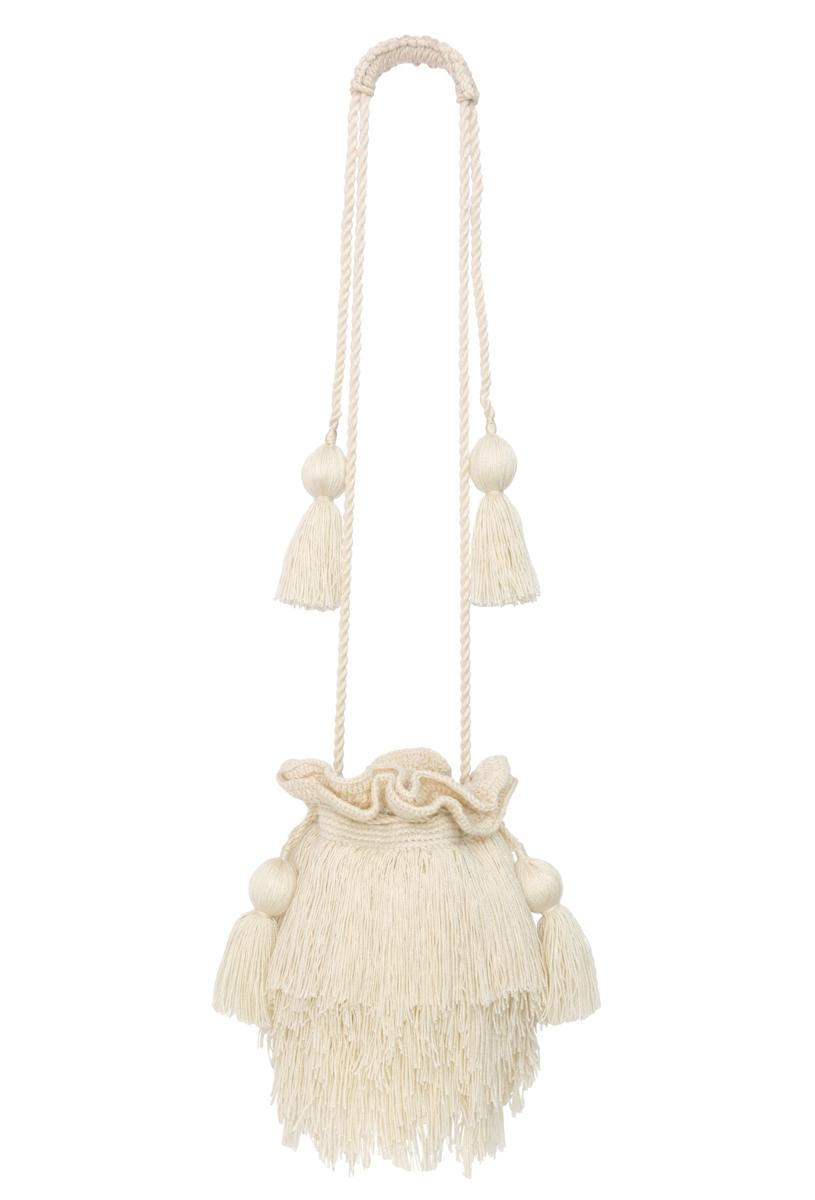 Mechuda white backpack