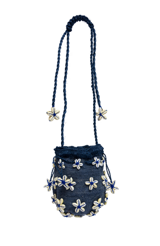 Seashell Flower Mochila Handbag Blue King