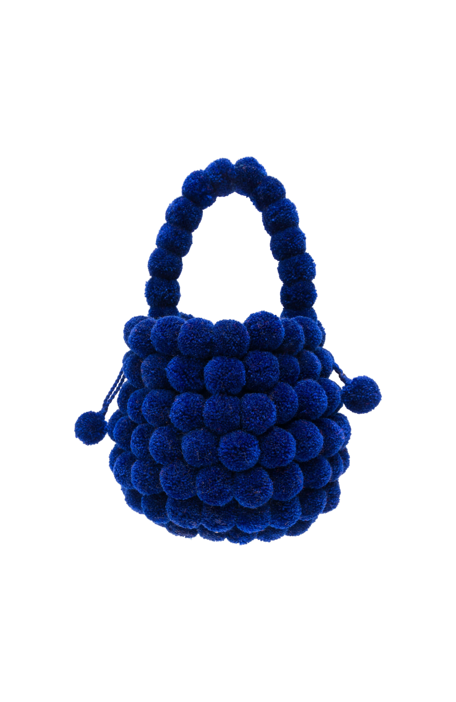Multi-Pompom backpack royal blue