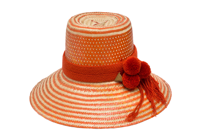 Sombrero Wayuu naranja