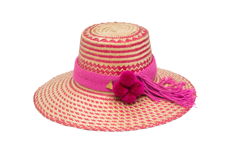 Sombrero Wayuu rosado