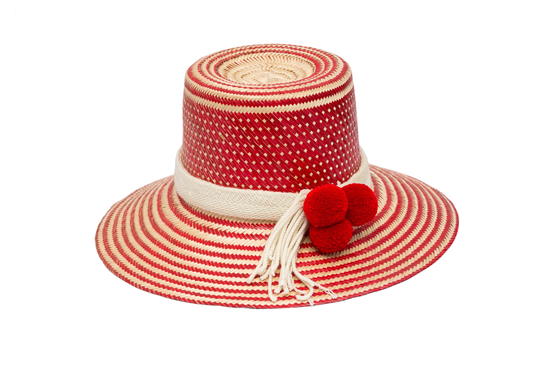 Sombrero Wayuu rojo