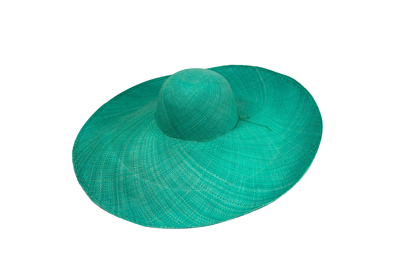 """Pava"" Straw Hat,Turquoise"