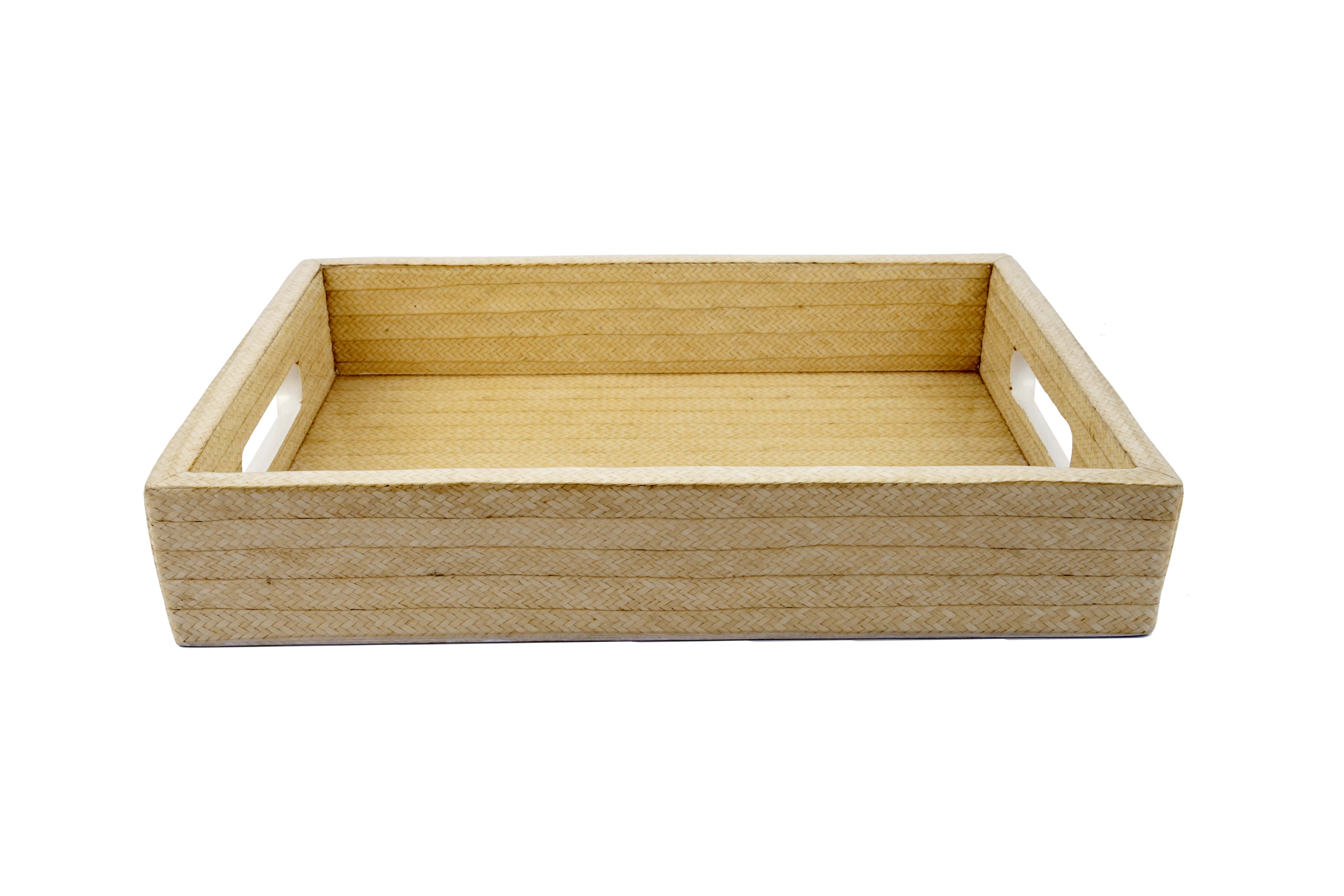 Rectangular tray caña flecha