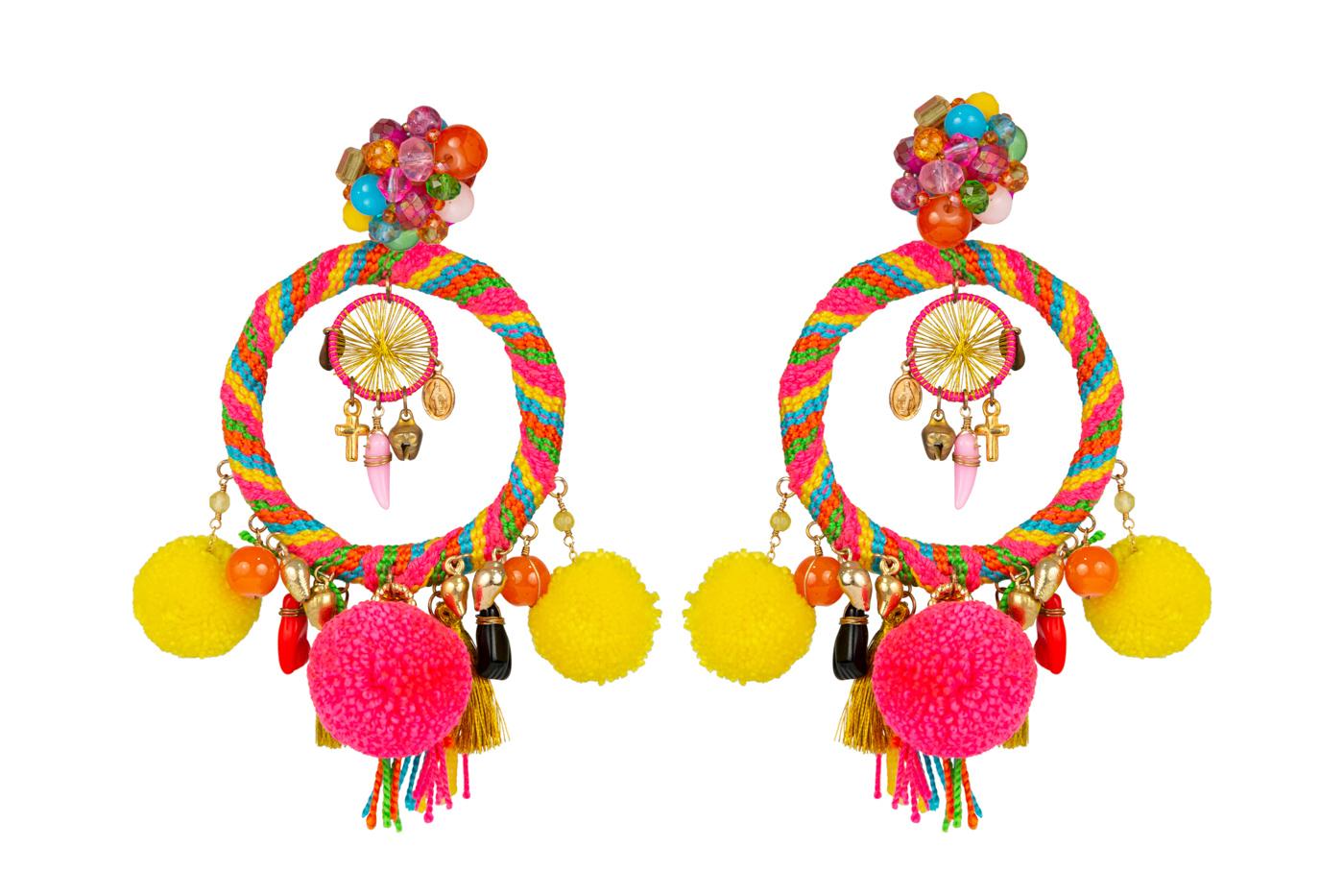 Arete Tradicional Wayuu Multicolor