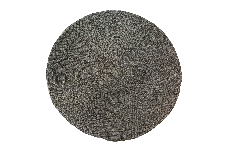 Tapete redondo fique gris