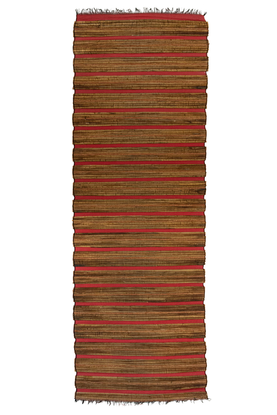 Esterilla en bamboo marrón-rojo