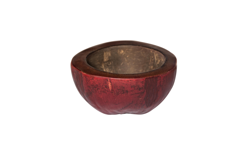 Cenicero de coco rojo