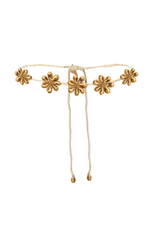 Choker flor caracolito mini dorado