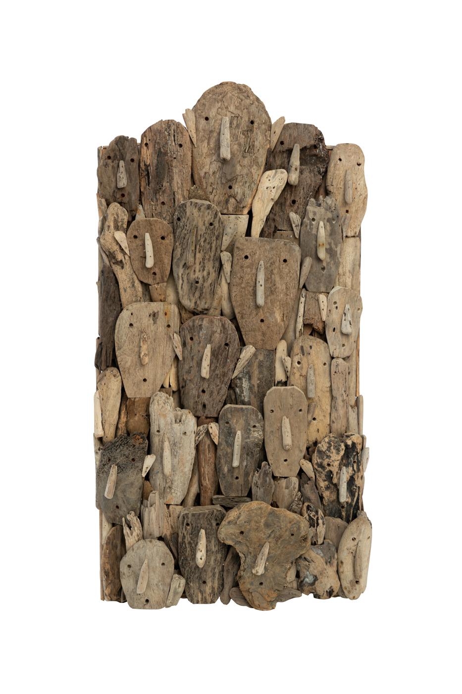 Panel decorativo de madera flotante