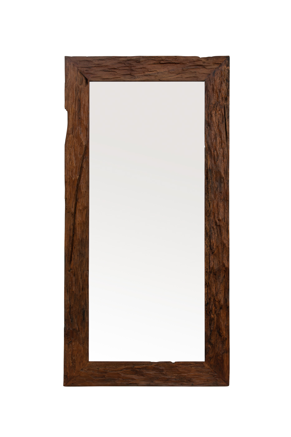 Espejo rectangular teka reciclada