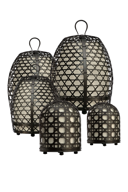 Lámpara jaula de gallo en bronce-59 Cm