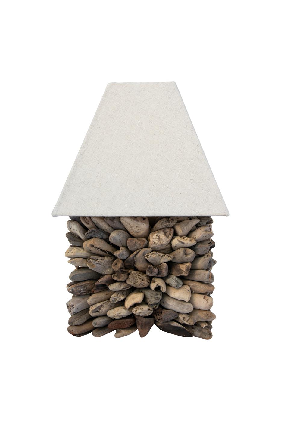 Lámpara de mesa madera flotante